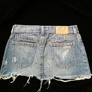 😁Hollister blue denim miniskirt-sz 3